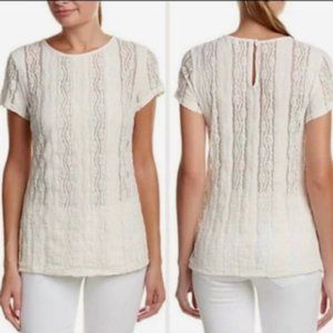 Cabi- Lace Cream Top Style 260 Size xs